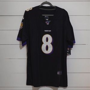 NFL 100 Black Lamar Jackson Jersey